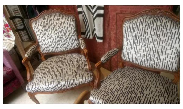 fauteuils Louis xv modernisés Lyon